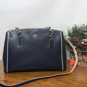 Coach Christie Carryall crossgrain leather bag